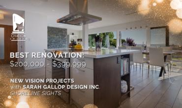 2018 OVATION AWARDS – BEST RENOVATION $200,000 – $399,000
