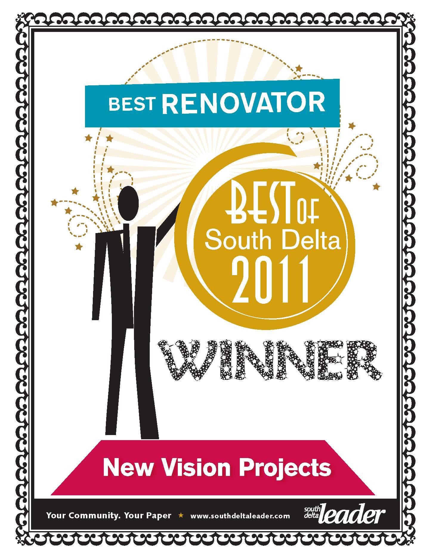 2011 South Delta Leader Readers Choice Awards – Best Renovator